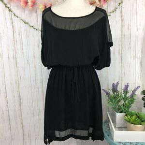 EXPRESS Super Relaxed Fit Sheer Edge Dress